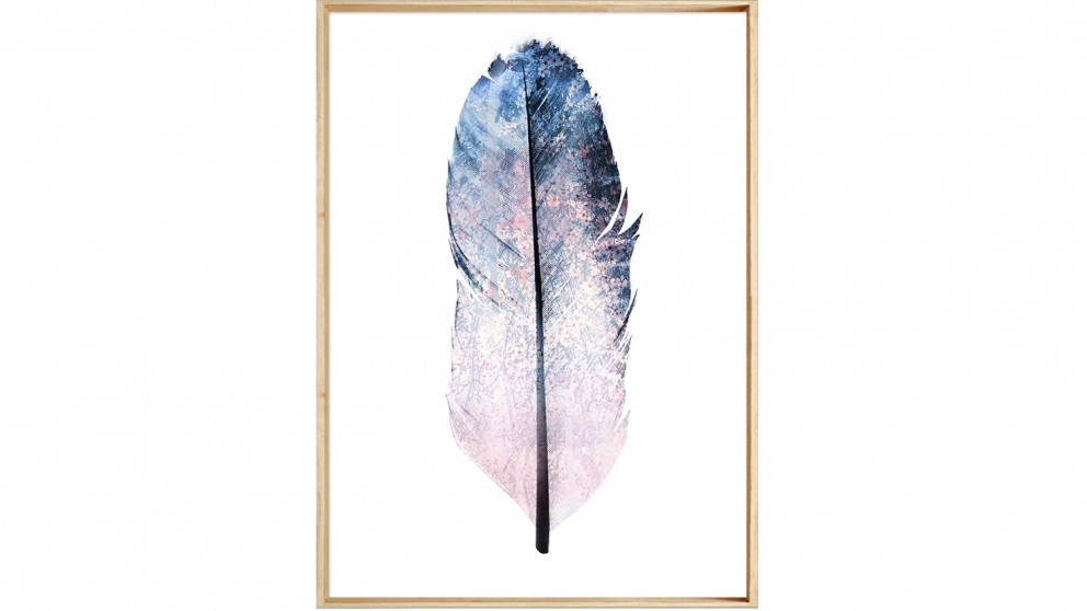 Soft Blue Feather 1 Print