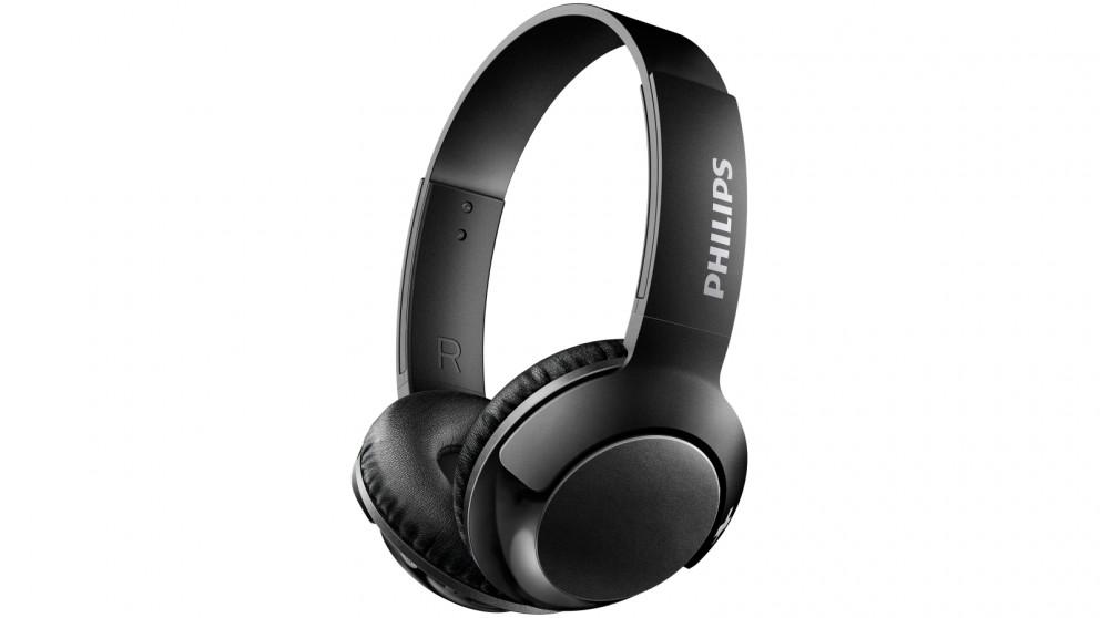Philips Bass+ Wireless On-Ear Headphones - Black