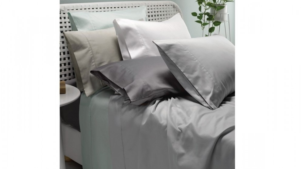 Lu0027Avenue 300 Thread Count King Sheet Set   Charcoal