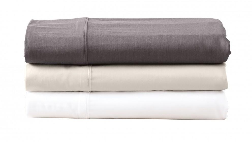 L'Avenue Bamboo Single Sheet Set- White