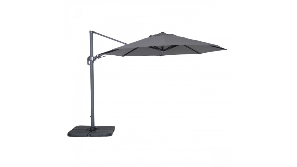 Shine 3 x 3.3m Octagonal Cantilever Outdoor Umbrella - Charcoal