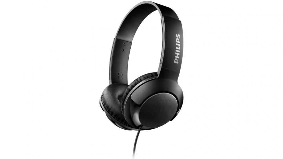 Philips SHL3070 Bass+ On-Ear Headphone - Black