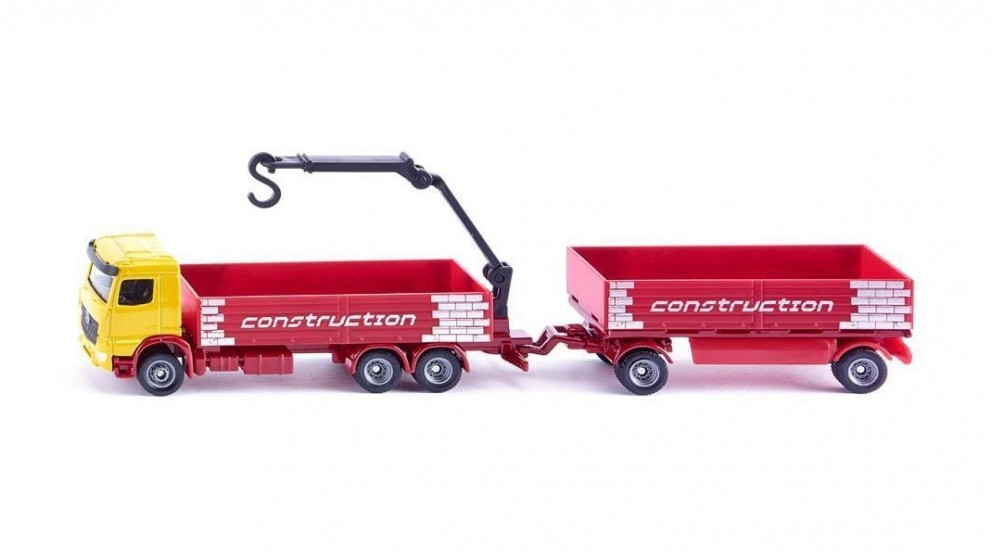 Siku Mercedes Benz Truck for Construction and Trailer - 1:87 Scale