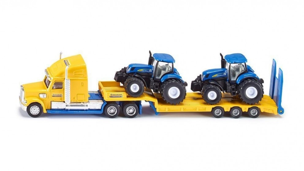 Siku New Holland Truck with 2 New Holland Tractors - 1:87 Scale