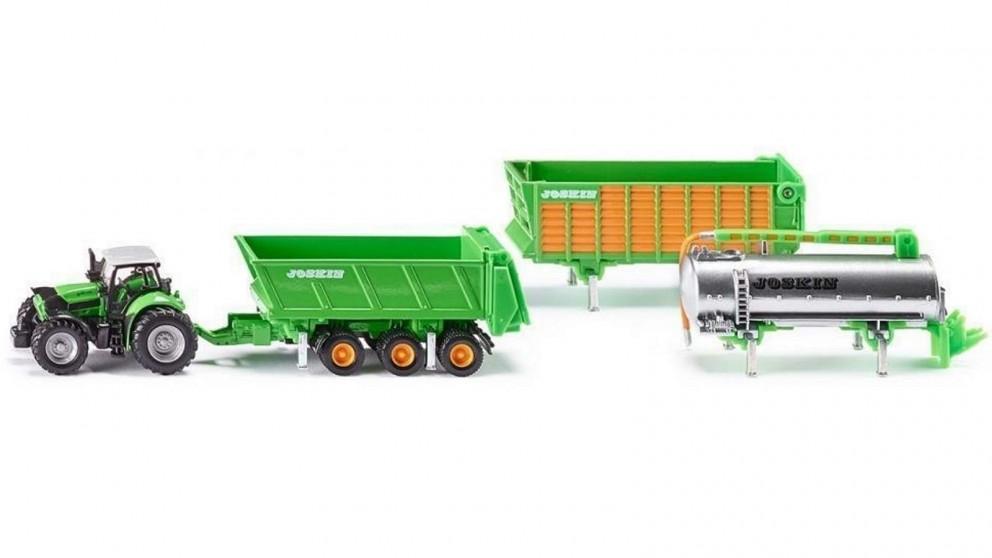 Siku Deutz-Fahr Tractor with Trailer Set - 1:87 Scale