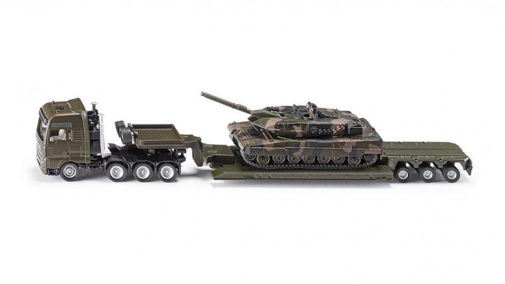 Siku MAN Heavy Haulage Truck with Tank - 1:87 Scale