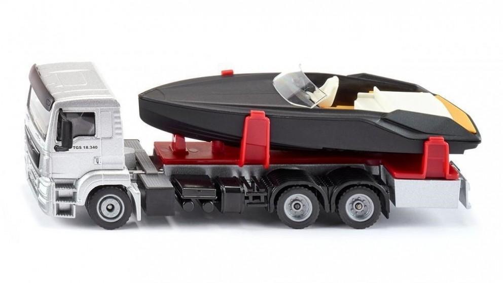 Siku MAN Truck with Frauscher Motor Yacht 1:50 Scale