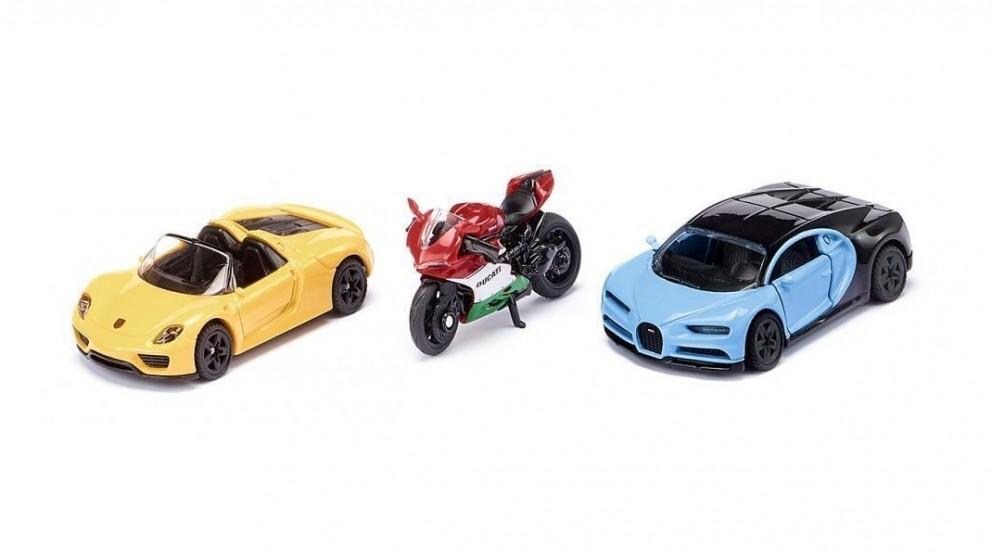 Siku Sports cars and motorbike