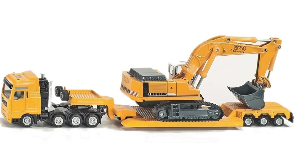 Siku MAN Liebherr  Haulage Transporter with Trailer - 1:87 Scale