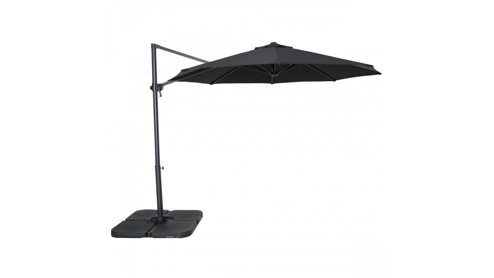 Silhouette 3m Octagonal Cantilever Outdoor Umbrella - Black
