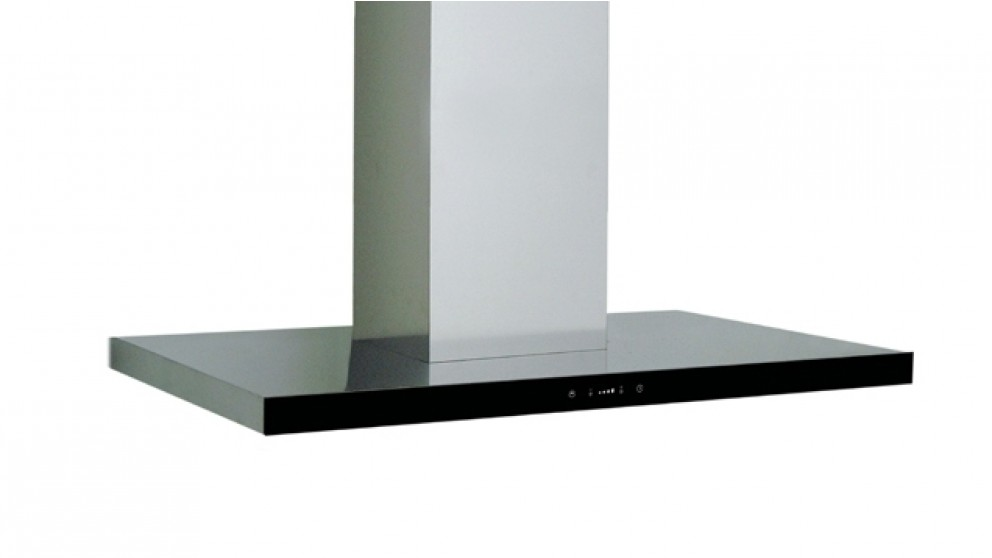 Sirius 900mm Island Canopy Rangehood with Sem 1 Internal Motor - Black