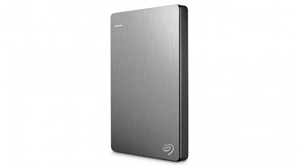 Seagate Backup Plus Slim 1TB Portable Hard Drive - Silver