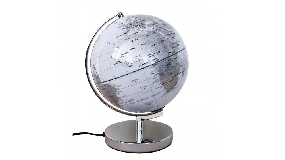 Globe Lamp - Silver
