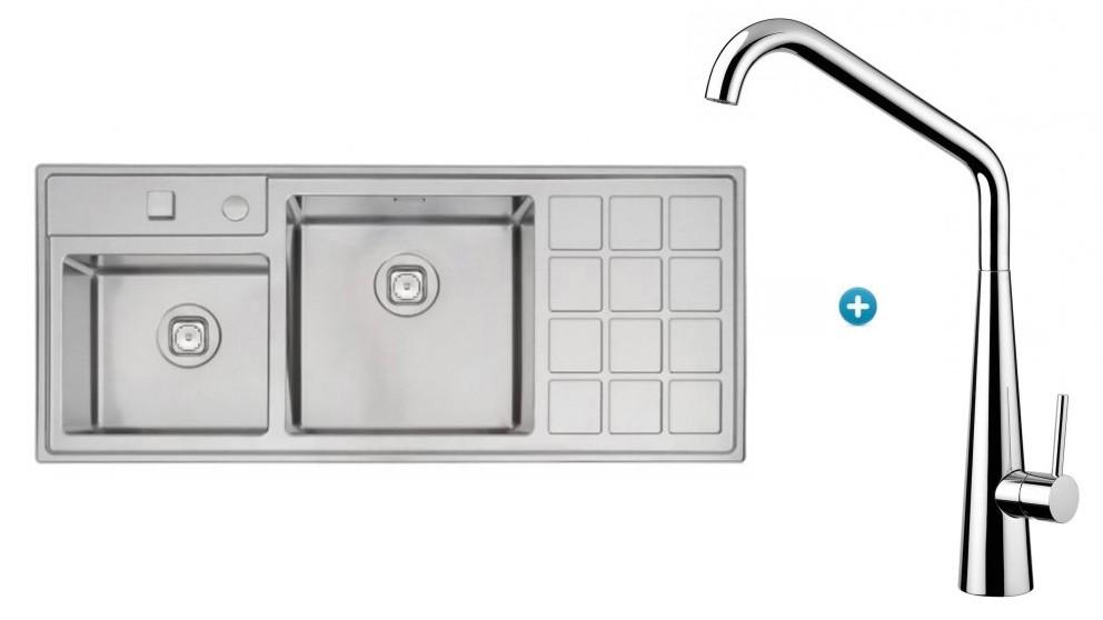 Linsol Tramontina Plus Double Bowl Sink & Elias Kitchen Mixer Package