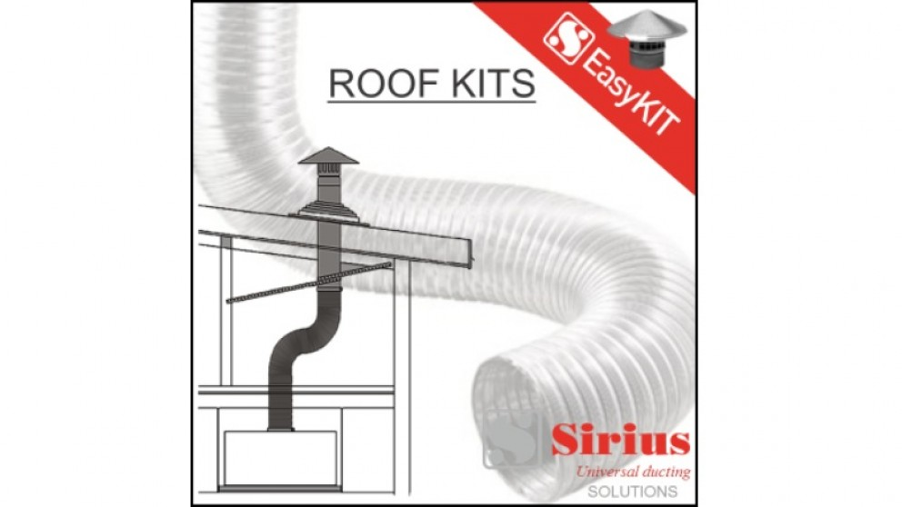 Sirius 200mm Easy Metal Roof Ducting Kit