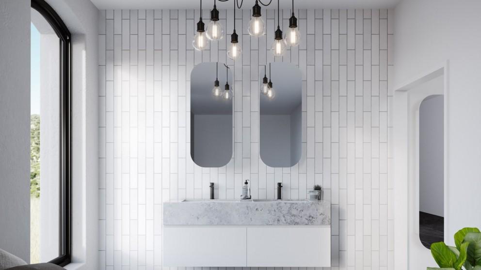 Timerline Jazz Arch Platinum 1000x400mm Shaving Cabinet