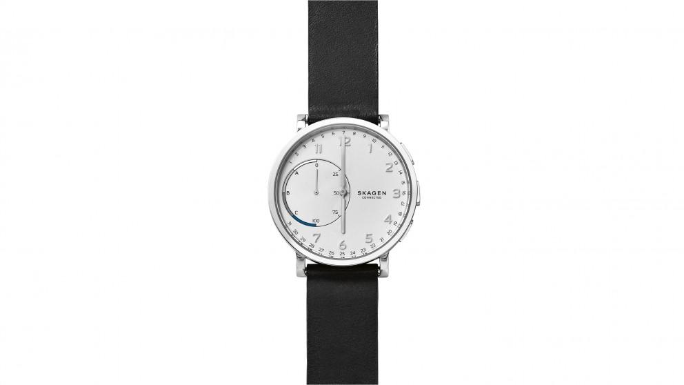 Skagen Hagen Leather Connected Watch - Black/Silver