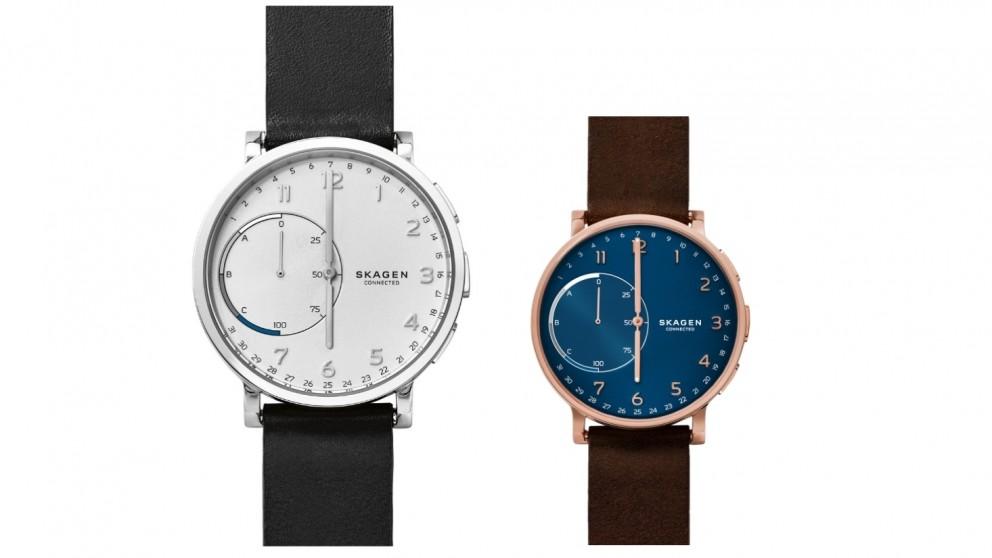 Skagen Hagen Leather Connected Watch
