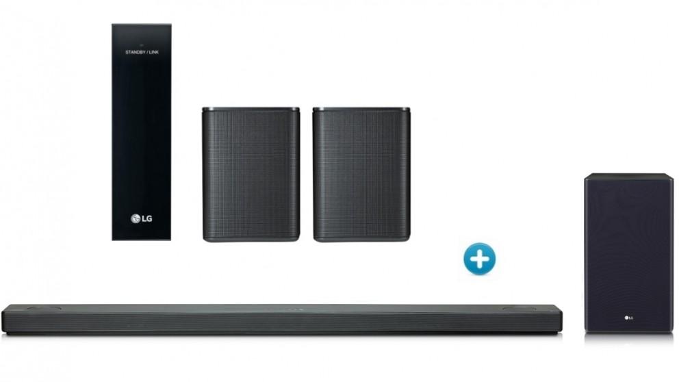 LG SL10YG Soundbar with Wireless Subwoofer + Rear Speaker Kit Package