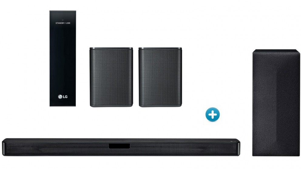 LG SL4Y Soundbar with Wireless Subwoofer + Rear Speaker Kit Package