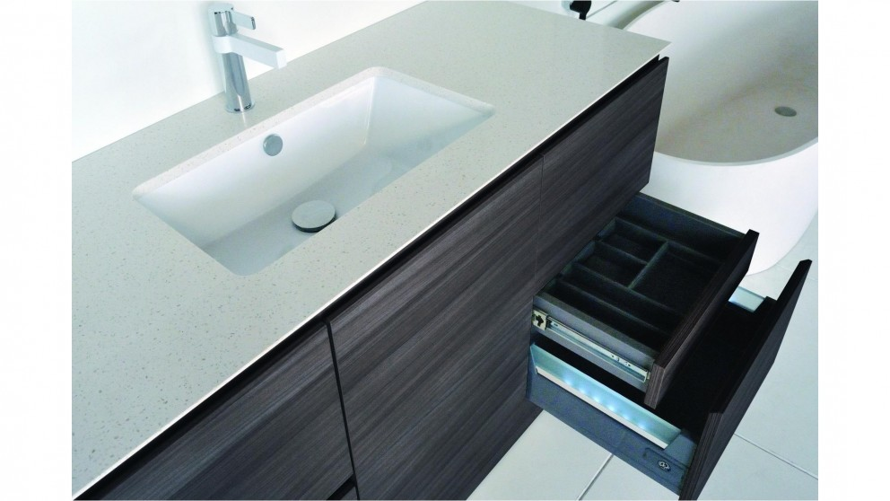 Seclude 1200mm 6 Drawer Cherry Pie Top Wall Hung Vanity