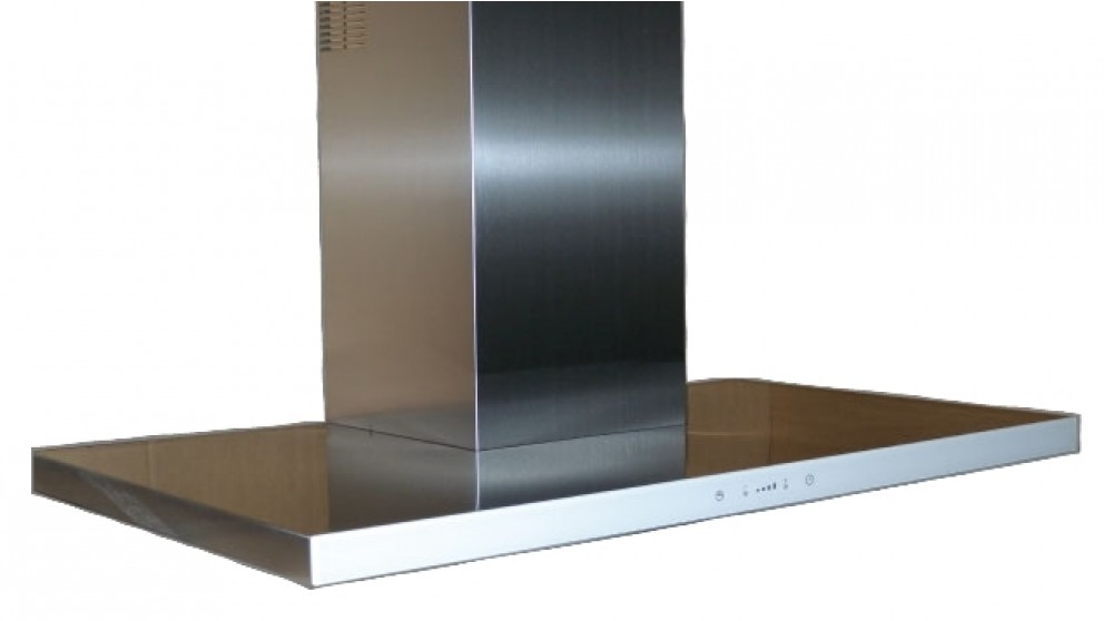 Sirius 900mm White Glass Fascia Canopy Rangehood with Sem 5 External Motor