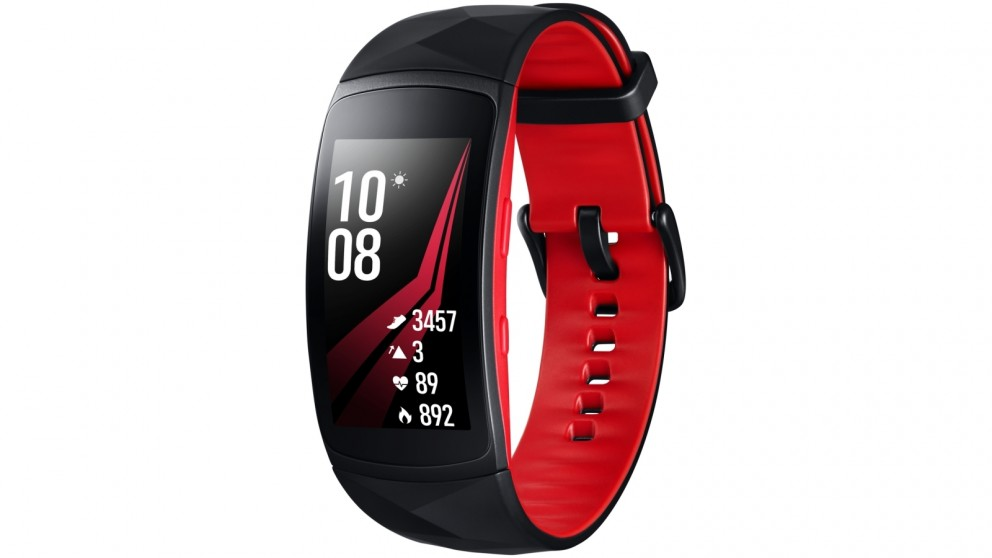 Samsung Gear Fit2 Pro Small Fitness Tracker - Black/Red