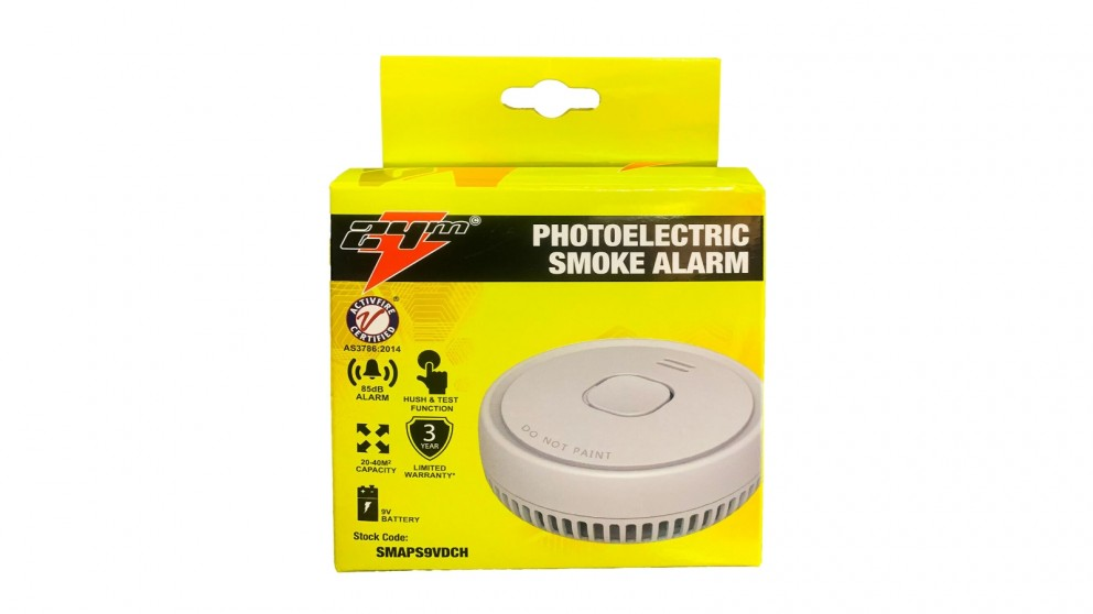 Smoke Alarm 2 Photoelectric with 9V Battery