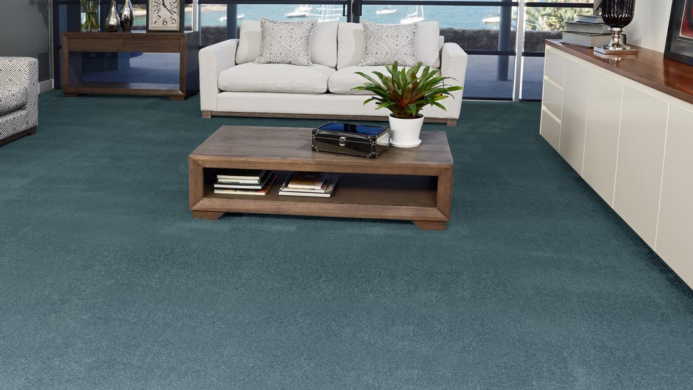 SmartStrand Silk Forever Clean Silk Trends Tranquil Teal Carpet Flooring