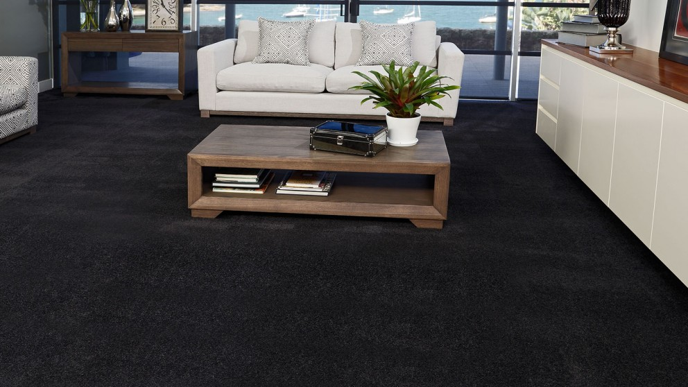 SmartStrand Silk Forever Clean Silk Trends Black Bean Carpet Flooring