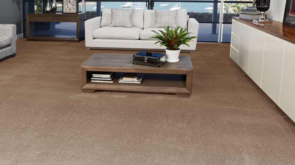 SmartStrand Silk Forever Clean Silk Trends Hazy Taupe Carpet Flooring