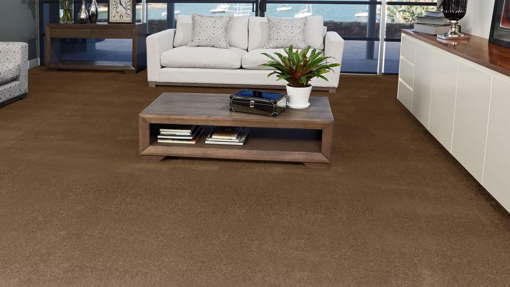 SmartStrand Silk Forever Clean Silk Trends Burnished Brown Carpet Flooring