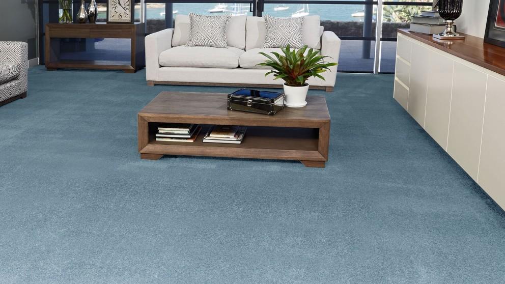 SmartStrand Silk Forever Clean Silk Trends Blue Lagoon Carpet Flooring