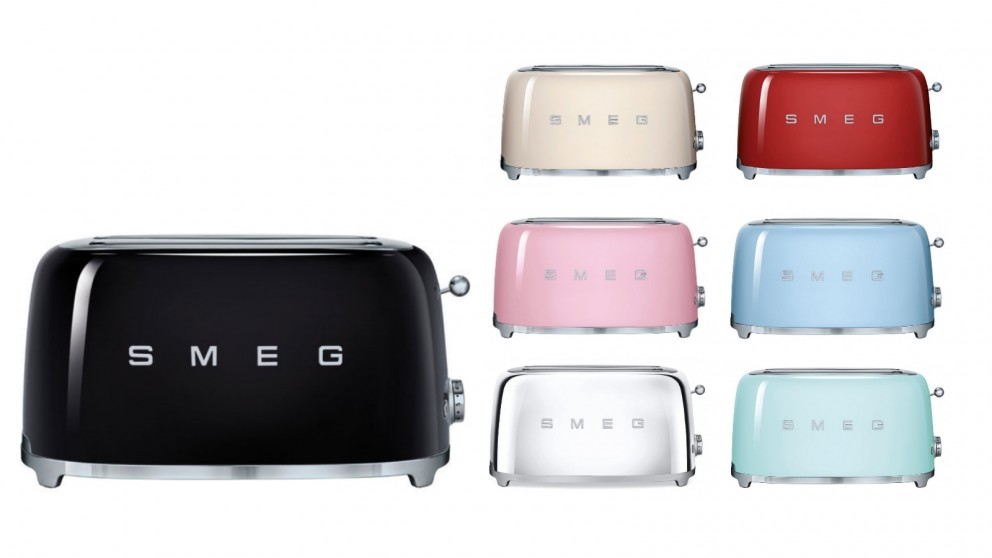 Buy smeg 50s style longslot toaster harvey norman au for 50s style kitchen appliances
