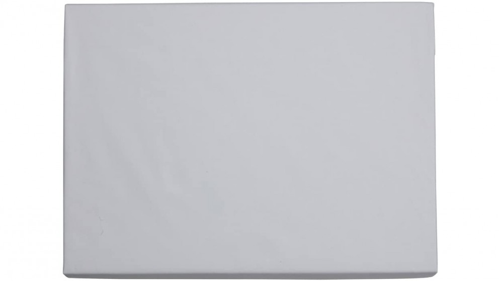 Sheridan 300tc Organic Percale Cotton Queen Fitted Sheet - Snow