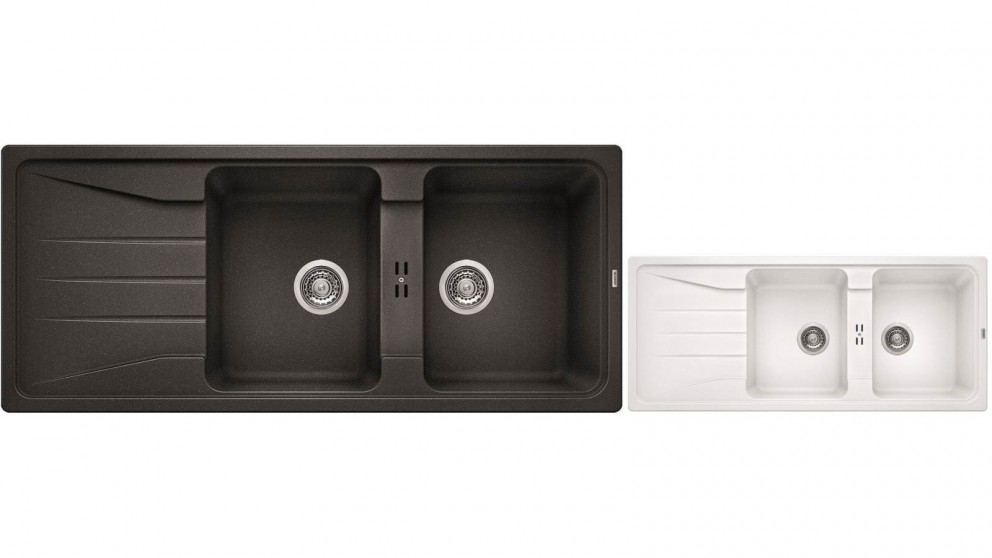 Blanco Silgranit 26L Double Bowl Inset Sink with Drainer
