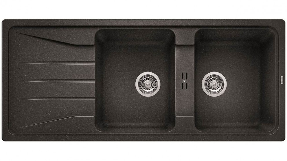 Blanco Silgranit 26L Double Bowl Inset Sink with Drainer - Anthracite