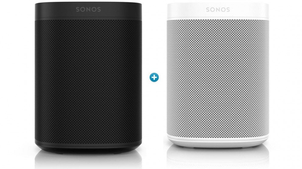 Sonos One Gen 2 Smart Speaker Bundle - Black & White