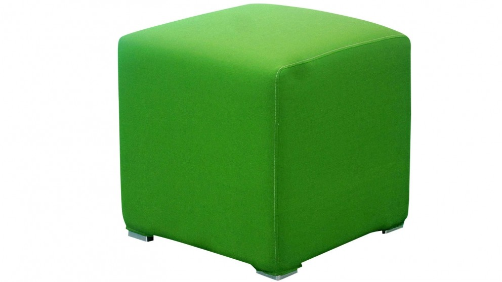 Splash Outdoor Ottoman - Green Solid