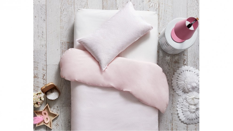 Spot Pink Quilt Cover Set - Single