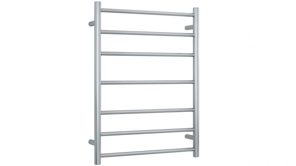 Thermogroup Thermorail 7 Bar Round Heated Towel Rail - Brushed Stainless Steel