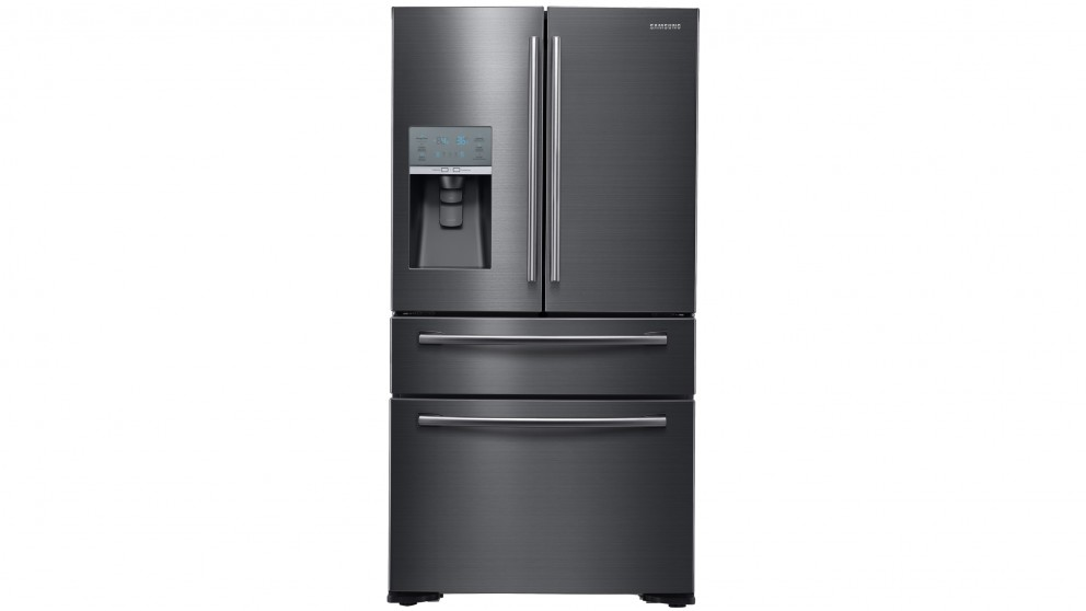 Samsung 680L 4 Door French Door Fridge - Black
