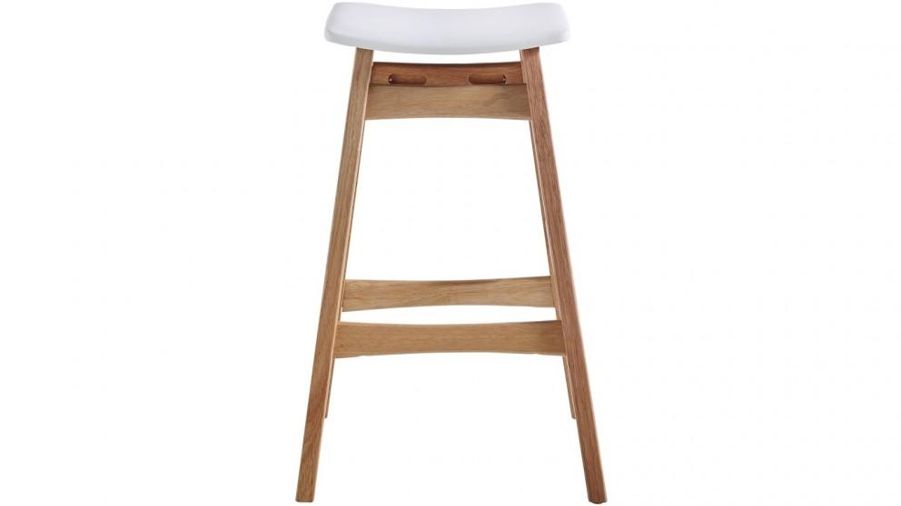Romano Bar Stool Natural Leg - White