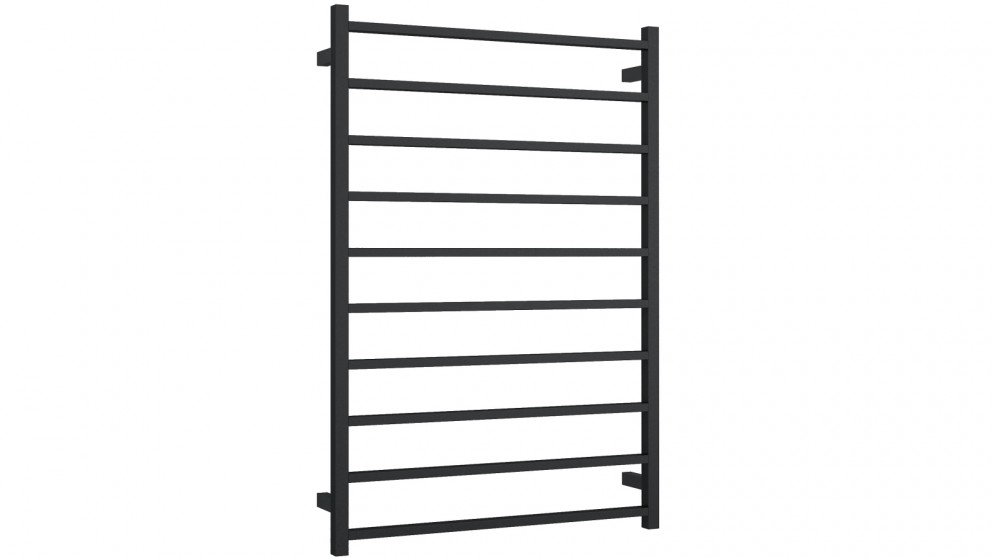 Thermogroup Thermorail 10 Bar Square Heated Towel Rail - Matte Black