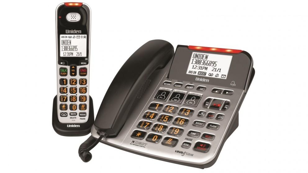 Uniden SS E47+1 Sight & Sound Enhanced Corded & Cordless Phone
