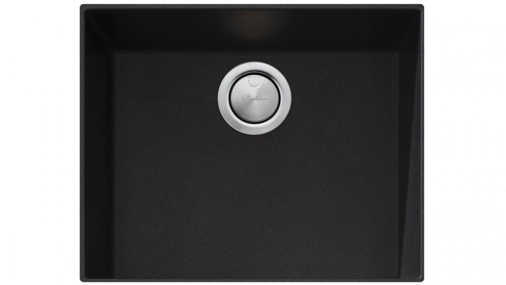 Oliveri Santorini Large Bowl Undermount Sink - Black