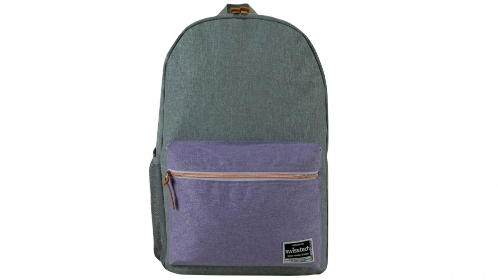 Swisstech Laptop Backpack - Grey/Lilac
