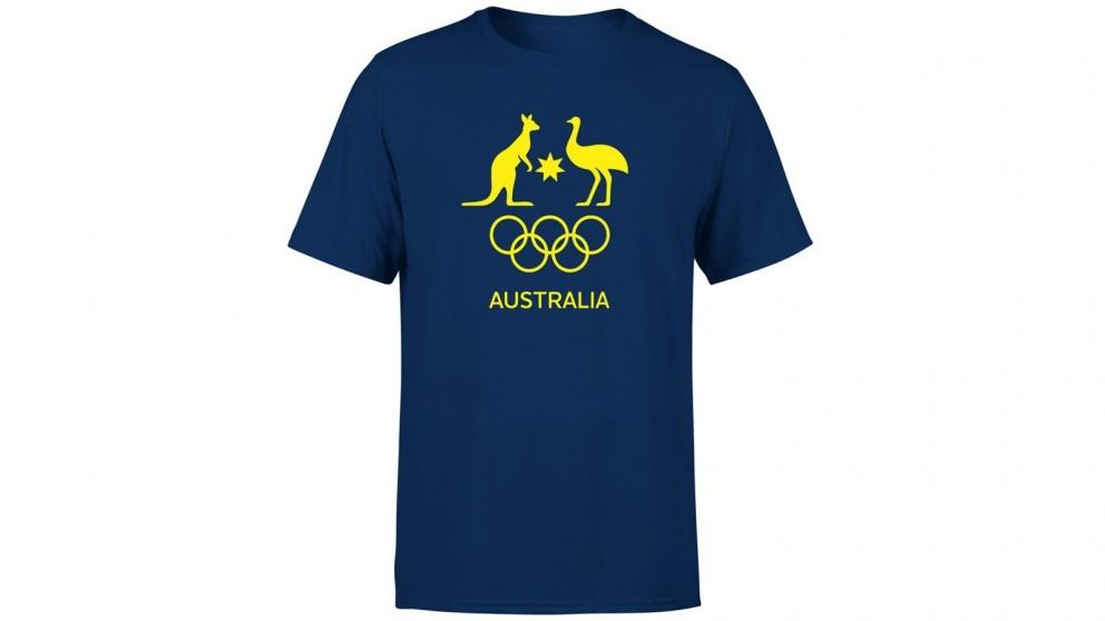 AOC Size-8 Kids Supporter T-Shirt - Navy