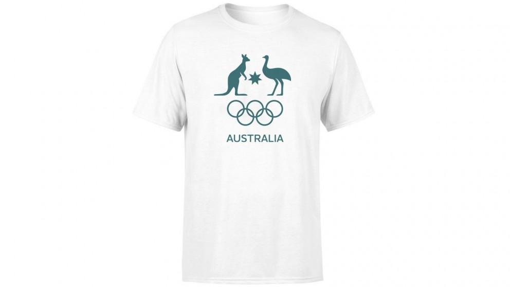 AOC Size-10 Kids Supporter T-Shirt - White
