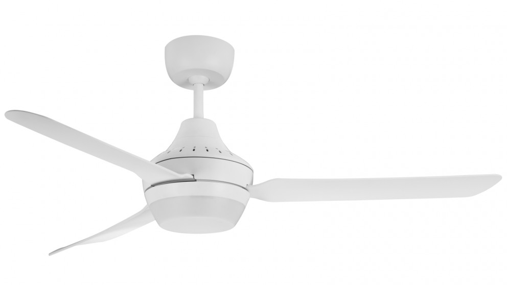 Ventair Stanza 140cm 3 Blade Ceiling Fan with Arylic Light (2x B22 Lamp Holders) - White
